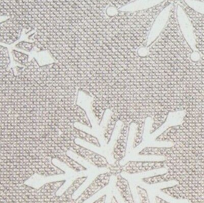 Christmas Gift Wrap Wrapping Silver Snowflakes Embossed Linen Tissue Paper Decor