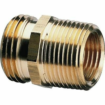 Brass Garden Hose Fitting Adapter 34 GH Female x 34 Male