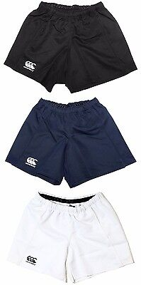 New Boys / Mens Canterbury Advantage Rugby Shorts 3 Colours Black Navy White
