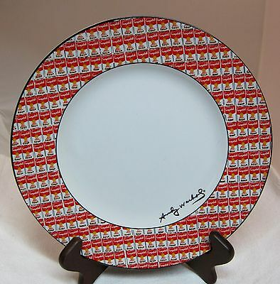 "1 Andy Warhol 100 Cans By Block Dinner Plate 10 1/2"" Discontinued 1998 - 2000"