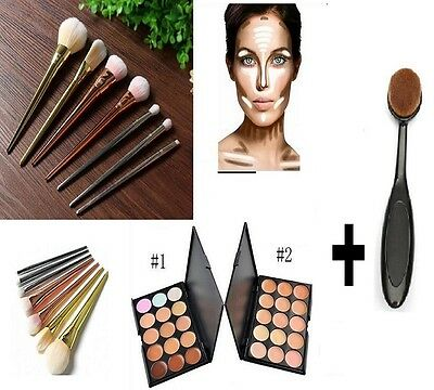 Pro Techniques Brushes Facial Powder Blush Foundation Cosmetic Makeup Tool New