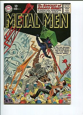 Metal Men #4  8.5+  Vf+  Original Owner!  Nice Pages!  Neat Cover