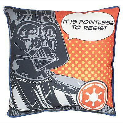 Star Wars Darth Vader Luke Skywalker Canvas Cushion Pillow Kids Force Awakens
