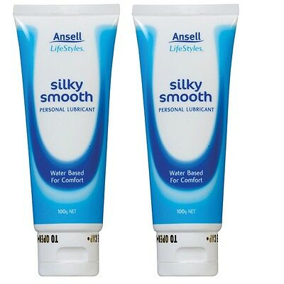 Ansell Lifestyle Silky Smooth Lubricant 2x100g (Double Pack)