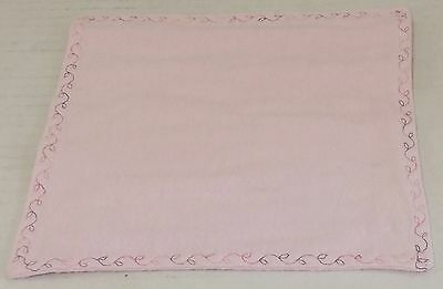 Double Sided Light Pink Flannel Baby Wash Cloth with Pink Variegated Edging