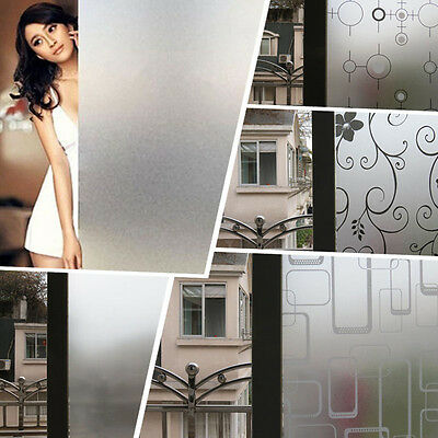 Hot Sale Waterproof Frosted Privacy Home Window Glass Film Sticker Self Adhesive