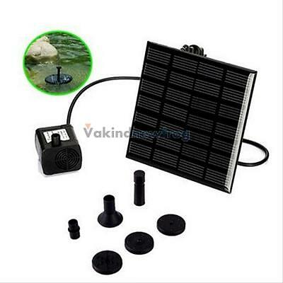 Solar Power Fountain Water Floating Submersible Pump Panel Garden Pond Pool Kit