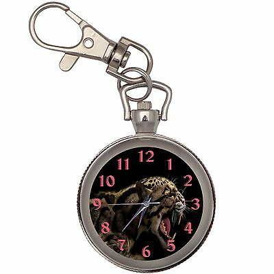 Angry Jaguar Key Chain Keychain Pocket Watch