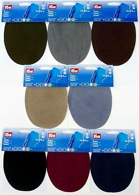 Pack of 2 Prym Faux Suede Sew On / Iron On Elbow / Knee Patches 10 x 14 cm