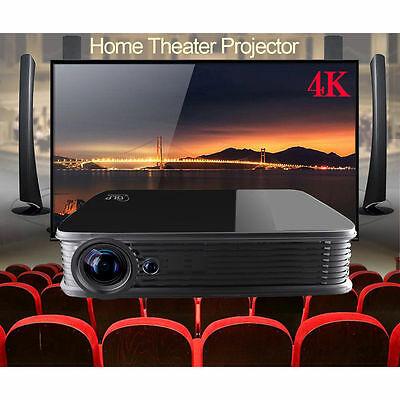 Android5.1 Mini Home Theater 3D DLP 4K Projector Full HD HDMI 1080P WIFI GT918