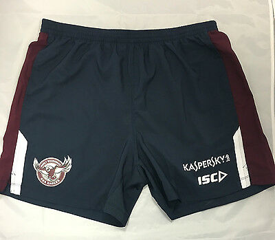 Manley Sea Eagles  2015 - GREY GYM/Training Shorts - NRL