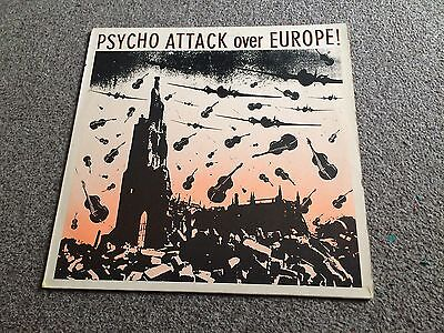 Psycho Attack Over Europe - 1985 Lp Rare Psychobilly Tranquillizers,meteors Vg+