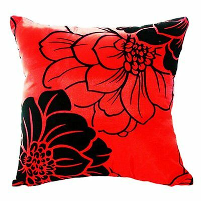 Sunny Home Sofa Bed Car Square Decorative Throw Pillow Case Cushion Cover (Red)