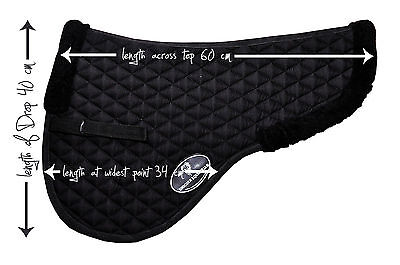 Unicorn Half Saddle Pad Cotton Drilled Lined with 20mm Foam