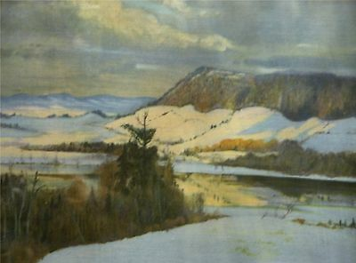 The river flows in winter, by Maurice G. Cullen, print