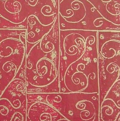 Burgundy Swirls Christmas Gift Wrap Wrapping Tissue Paper Colourfast Patterned