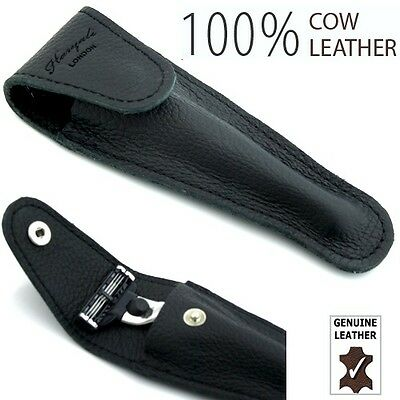 Leather Safety Razor Case/Cover  Accommodate Gillette Mach 3, Fusion and Sensor