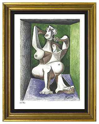 "Pablo Picasso Signed/Hand-Numbered Ltd Ed ""Woman Dressing Hair"" Print (unframed)"
