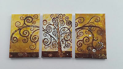 Handmade Miniature Dolls House Accessory Canvas Style Wall Art Picture Tree #2