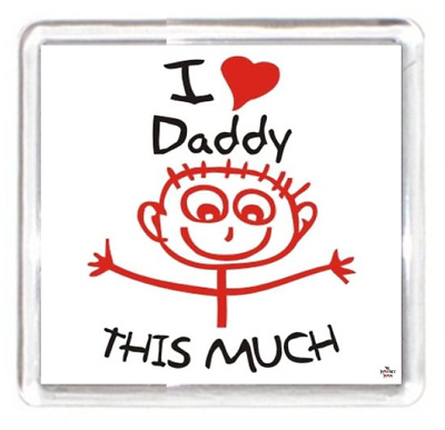 Father Daddy Dad Day Happy Heart Love Child Writing Measure Quote Fridge Magnet