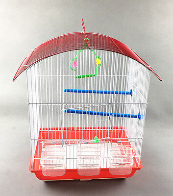 Bird CAGE BIRDS  37 x 28 x 48 CM FINCH BUDGIES CANARY with 3 feeders