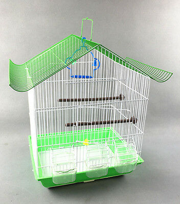 PYAMIDL SLIDING ROOF CAGES 3 fedeer BIRD CAGE 37x28x48CM BUDGIES CANARY HOME PET