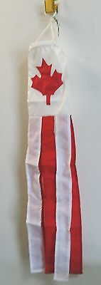 """30"""" Long Canada Windsock Red White Maple Leaf"""