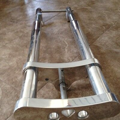 harley inverted wideglide front end forks custom billet trees complete polished