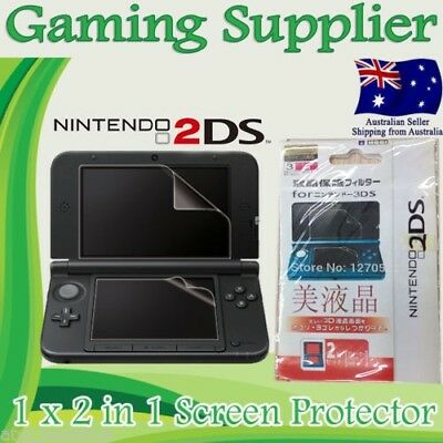 2 In 1 LCD Screen Guard Protector for Nintendo 2DS