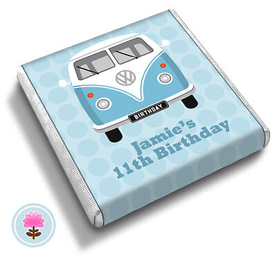 Personalised CAMPERVAN Birthday (ANY AGE) Party/Wedding FAVOUR CHOCOLATES