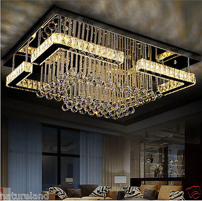 Crystal LED light chandelier ceiling pendant lamp Fixture curtain hang hall 2s