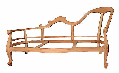 Chaise Longue Antique Style Frame Only Solid Wood Frame French Handcarver