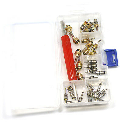 35pcs Car A//C R12/&R134a Air Conditioning Valve Core Assortment/&Remover Tool Kit