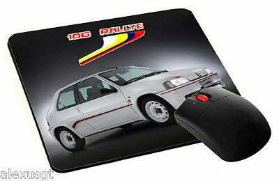 mouse pad, tappetino mouse PEUGEOT 106 RALLYE classic pc computer desktop