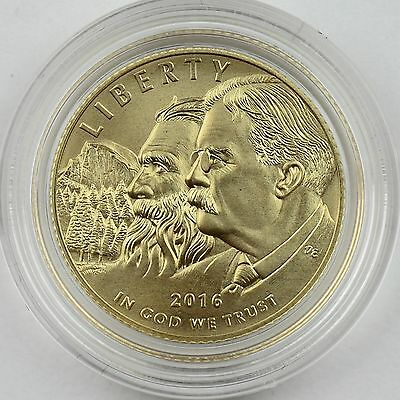 2016-W $5 100th Anniversary National Park Service Gold Uncirculated Mint Box/COA