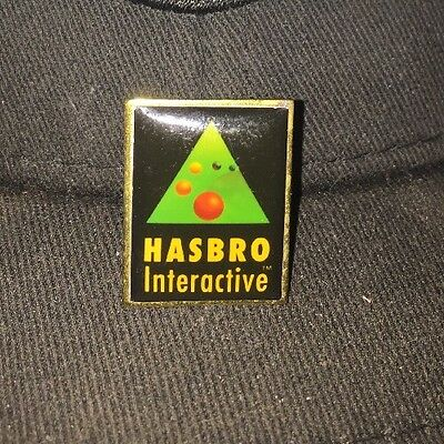 Rare HASBRO Interactive Poured Enamel & Gold Plated Brass Pin Made in USA Used