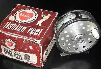 Vintage Berkley 510 Fly Reel W/line,box,papers In Excellent Condition.