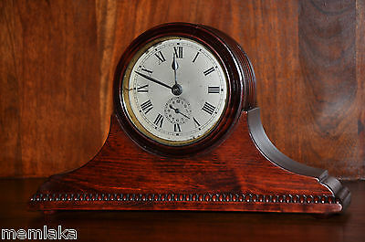 Rare German Gustav Becker Wooden Alarm Mantle Desc Clock Circa 1900 (0999)