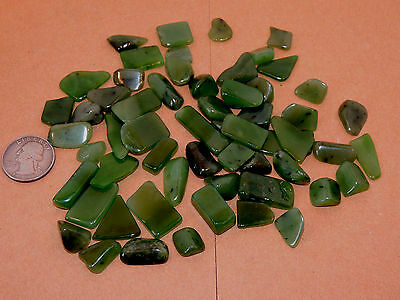 Siberian Jade Tumbled stones from Russia 1/4 pound (10349)