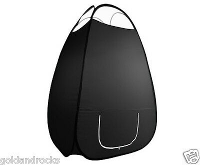 Large Black Pop Up Spray Tan Tent Tanning Mobile Booth 100 x190cm Washable NEW