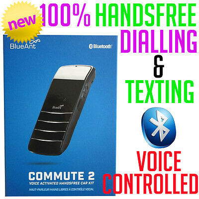 BlueAnt Commute 2 BLUETOOTH Voice Activated Hands-Free Car Kit Android iPhone