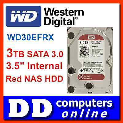 "Western Digital WD Red WD30EFRX 3TB 3.5"" SATA3.0 6.0Gb/s NAS Hard Drive Internal"