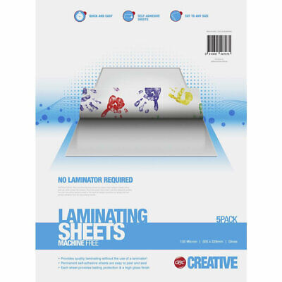 GBC A4 Laminating Pouches  Instant Laminate - 5 Pack