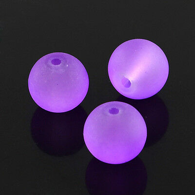 """1strand BlueViolet Frosted Round Transparent Glass Bead Loose Beads 8mm 31.4"""""""