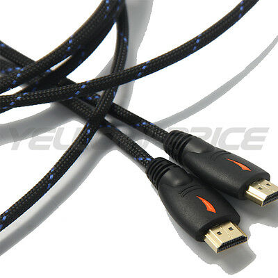 1.8M HDMI Cable 1.4 3D High Speed with Ethernet HEC Full HD 1080p Gold Plated 2M