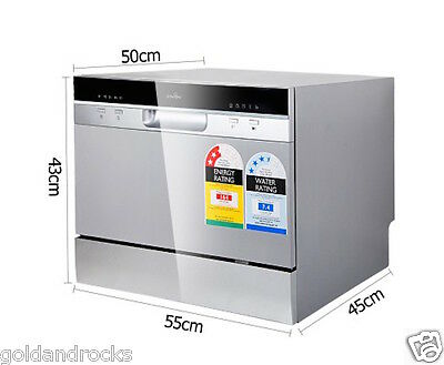 NEW 5 Star Chef Electric Benchtop Dishwasher Silver Dish Washing Freestanding