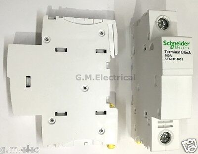 Schneider Acti9 100 Amp Single Pole Phase Terminal Block Sea9Tb1001 Merlin Gerin