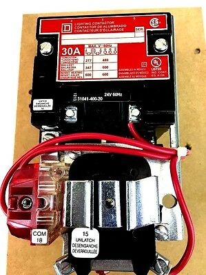 SQUARE D 8903SMO11V01 Lighting Contactor 24V 30A