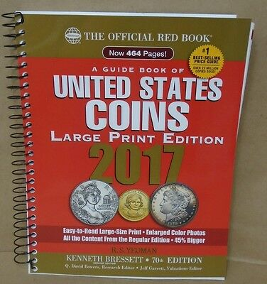 2017 Red Book Guide of U.S. Coins Large Print 70th Edition R.S. Yeoman coin
