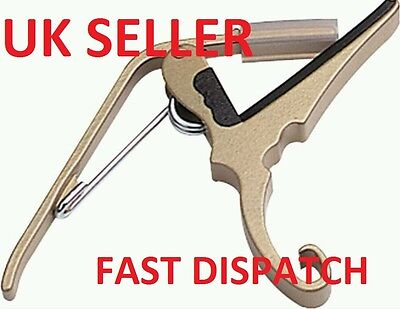 Guitar Capo Quick Trigger Clamp For Electric And Acoustic Guitar Uk Stock